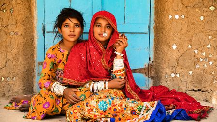 Stunning coplours are a feature of Inger's work. These are Mir girls in India (Picture Inger Vandyke