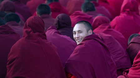 A glance from a Sershul monk on the Tibetan Plateau (Picture: Inger Vandyke)