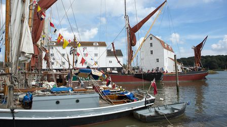 The Tide Mill is a backdrop to the annual regatta and Maritime Woodbridge