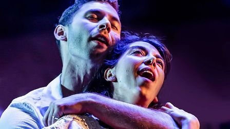 Andy Coxon (Tony) and Gabriela Garcia (Maria) in West Side Story. Picture: Richard Davenport