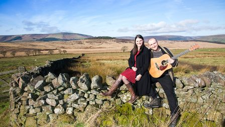Musical duo Evie Rapson and Tom Gill pictured in inspirational Bowland