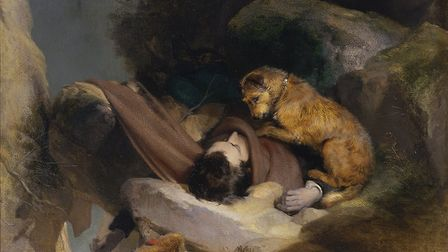 Landseer's chocolate box version of the story (copyright St Louis Art Museum)