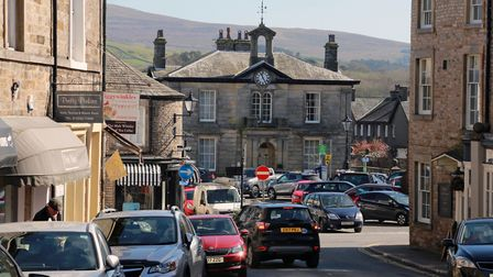 The busy town centre
