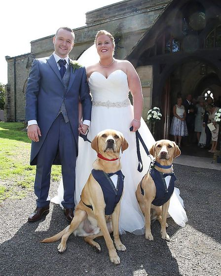 The happy couple with their special guests (Photograph: The Studio 17)