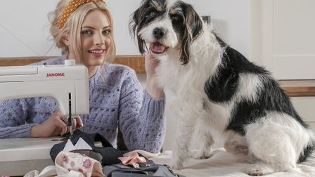 Jenny Tunnah with with Archie, the inspiration for her setting up her company (Photography: Milton