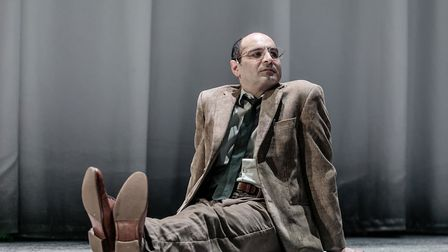 Zubin Varla as Martin Dysart in Equus at the Lowry, Salford