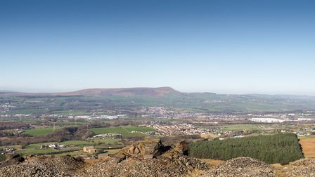 A stunning view of Pendle from Hameldon Scouts