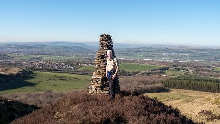 John on top of the world - or at least Hamledon Scout
