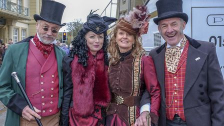 Over 40,000 people attend the annual Dickensian Festival in Ulverston including Gerard and Andrea Co