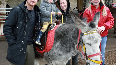 Coronation Street's Gary Windass, aka Mikey North, with wife, Rachael and their son, Archie (2) at S