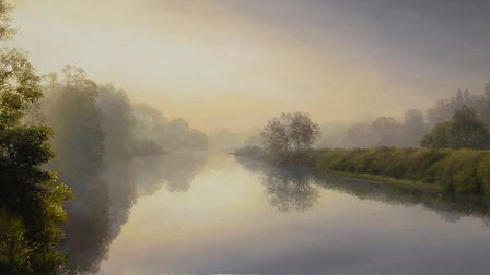 Misty morning on the River Eden by Alan Thompson