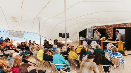 Chef Demo Stage at the St Ives Food & Drink Festival