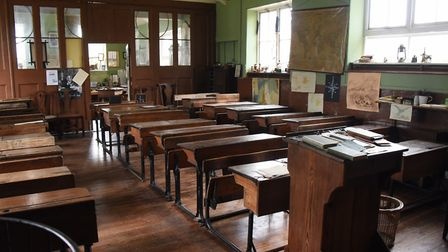 The classroom at the Victorian School at Great Cressingham (photo: Denise Bradley)