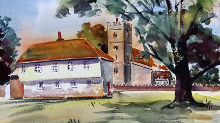 VILLAGE CENTRE Offering some help as to my thoughts regarding how to tackle each and every painting