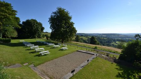 Enjoy stunning views at the Hare & Hounds, near Bath