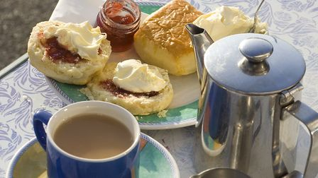 Focus on jam and scones in this tasty setting of cream teas in Cornwall