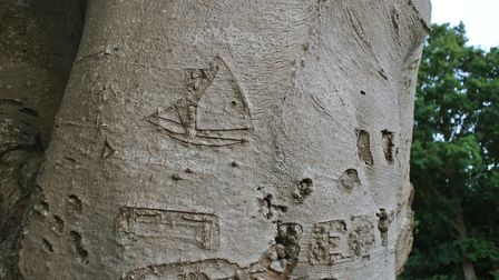 Some ancient graffitti - but just what do those boats signify?