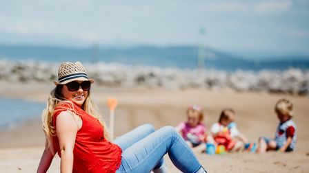 Actor Helen Longworth at her favourite place - Morecambe Bay