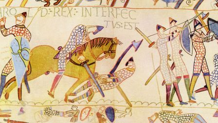 The Bayeux Tapestry depicting the Battle of Hastings, 1066. Picture: Getty Images