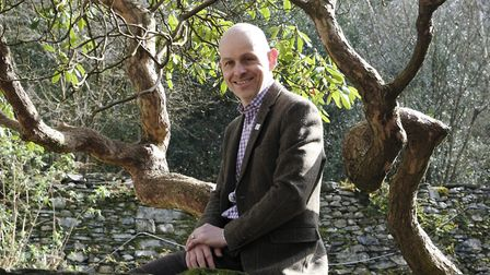 Michael McGregor, director of The Wordsworth Trust, in the planned sensory garden