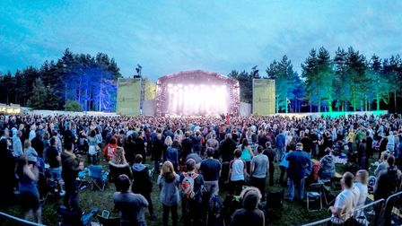 The scene at Thetford Forest for a Forest Live concert (David Barrow Events)