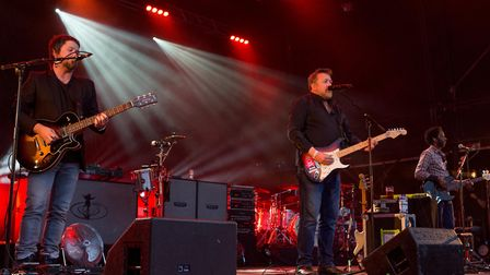 Elbow with lead singer, Guy Garvey perform at Forest Live (photo: Lee Blanchflower)