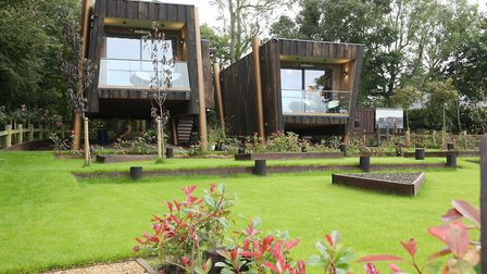 The eco-friendly cabins at the Cartford Inn