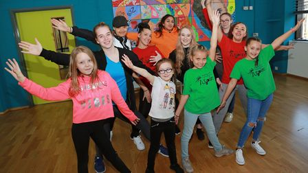 In rehearsals are the Aspire Carnival Dance Troupe
