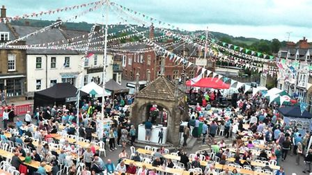 The free Party in the Square kicks off this year's Beaminster Festival