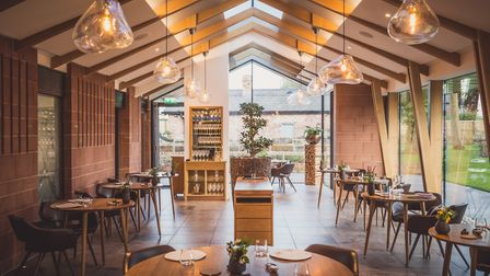 The stylish restaurant is housed in a modern extension