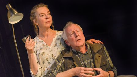 Maggie O'Brien (Hazel) and Patrick Driver (Robin). Photo by Robert Day