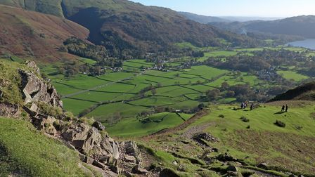 There are great views to be enjoyed on the way up to Helm Crag