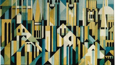 Cathedrals, a textile design by LGH