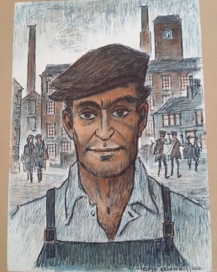 Man in a cloth cap, one of LGH's portraits of working men