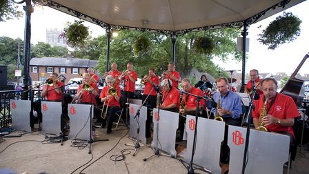 Taverner's Big Band, seen here playing at Stompin' in 2008, they also played at the first event and