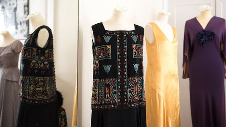 A selection of dresses from the 1920's and 1930's.