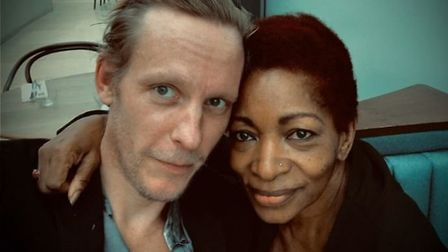 Bonnie Greer met up with controversial actor and Brexiteer, Laurence Fox. Picture: Twitter.