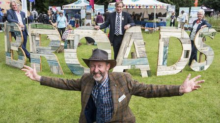 John Packman at the Royal Norfolk Show with the Broads display (photo: Matthew Usher)