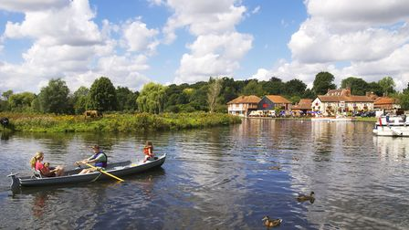 Young people enjoy a fresh air adventure on the Broads at Coltishall (photo: Julian Claxton)