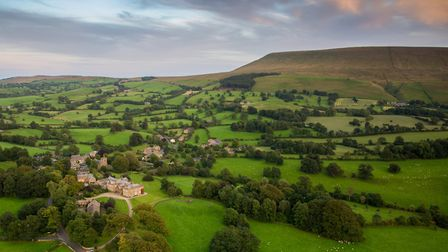 Downham and Pendle from the air