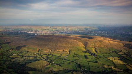 Pendle Hill from the air
