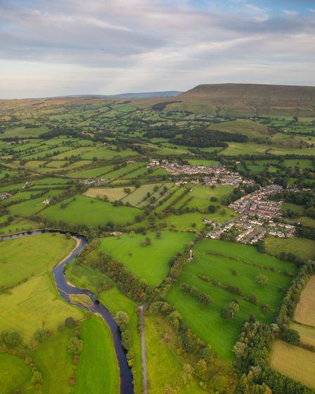 Chatburn and the river Ribble