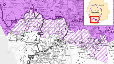 Map of the proposed extension (c) Friends of the Lake District