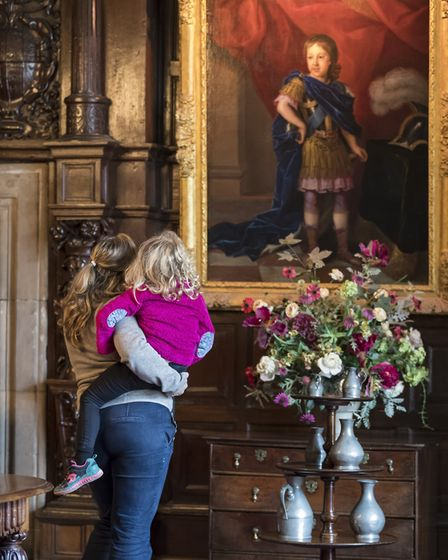 Visitors in the dining room at Sizergh Castle (c) National Trust Images/Chris Lacey