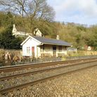 Limpley Stoke seen from across the tracks. Monkton Combe (Titfield) was supposed to have been identi