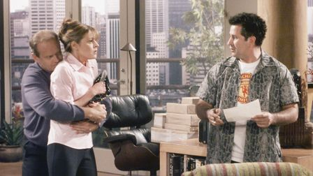 Anthony LaPaglia, right, as Simon Moon in Frasier, with Kelsey Grammer in the title role and Jane Le