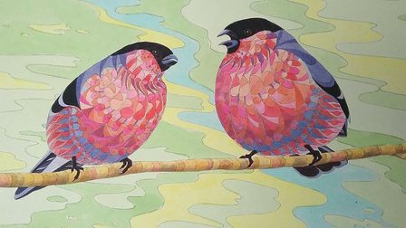 Victoria Ward will showcase her bullfinches and goldfinches in ink and watercolour