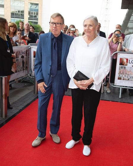 Timothy Spall and Vanessa Redgrave on the red carpet at the Lowry arts centre in Salford