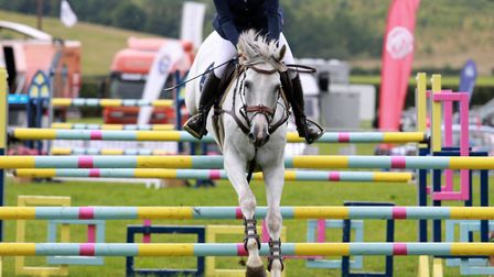 Showjumping action in The Salesbury Arena