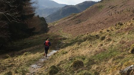 Penny Oliver running round Haweswater